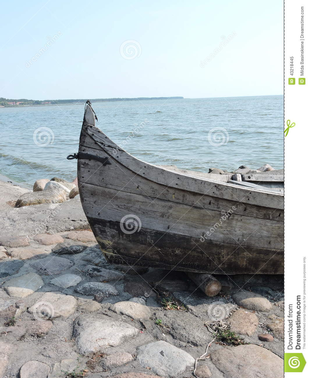 Old fishing boat on coast stock photo image 43218445 for Old fishing boat