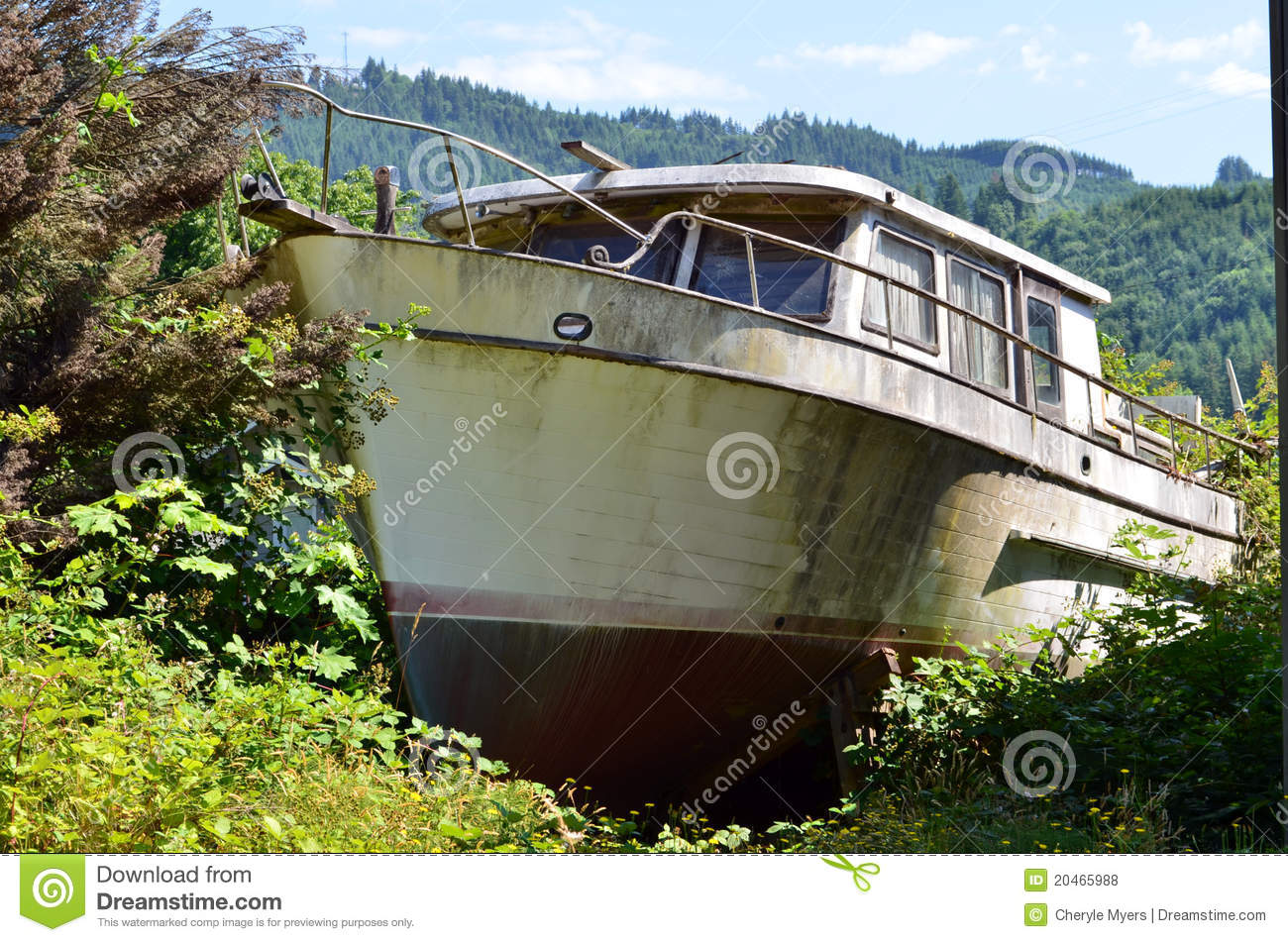Old fishing boat on dry land royalty free stock photos for What to do with an old boat