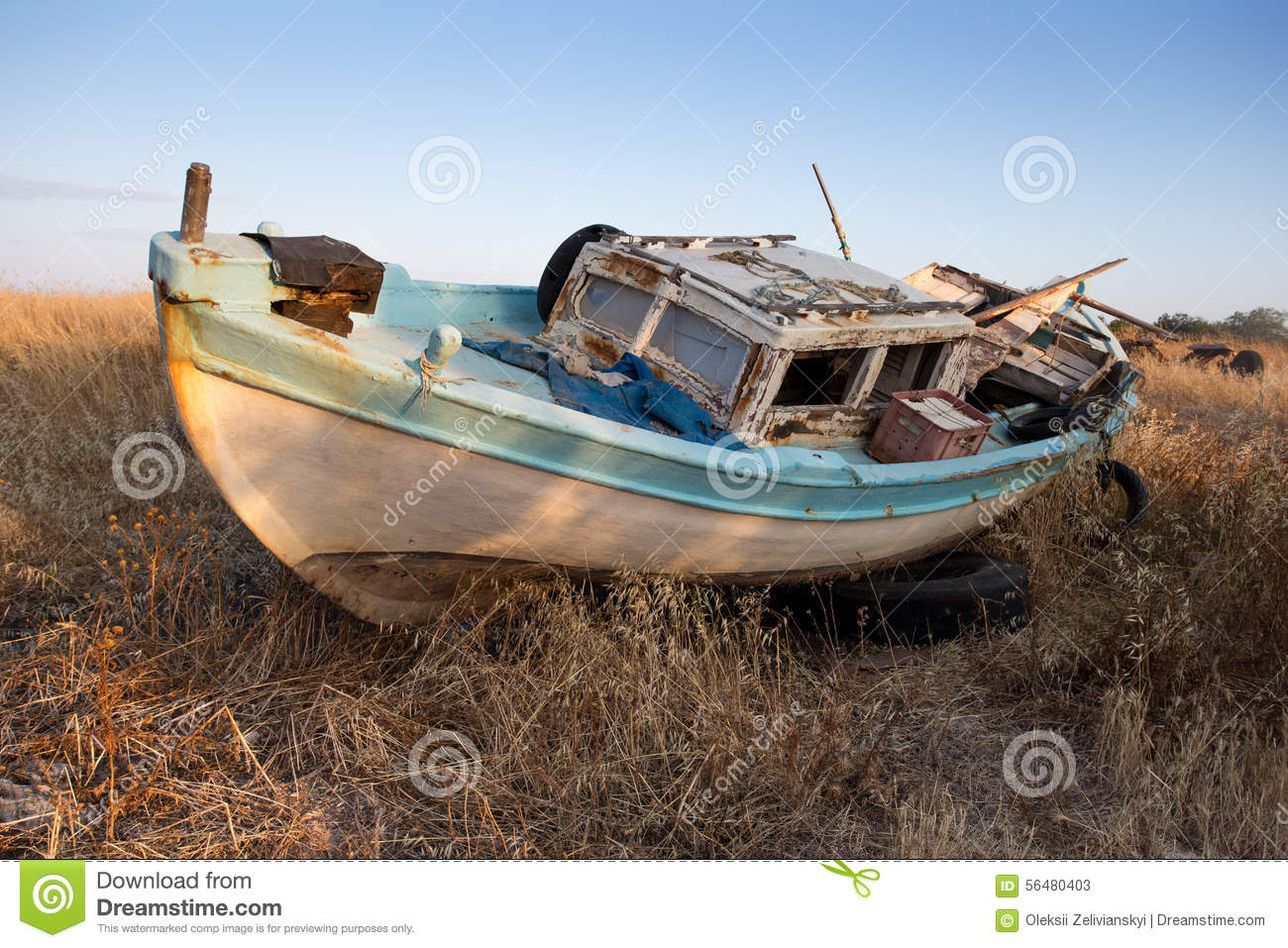 Old fishing boat stock photo image 56480403 for Old fishing boat