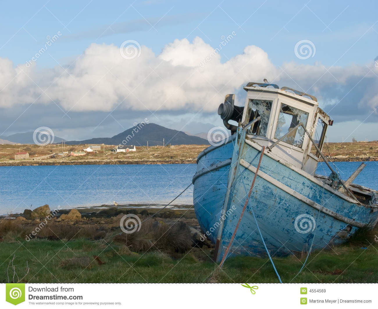 Old fishing boat in ireland stock image image 4554569 for Old fishing boat