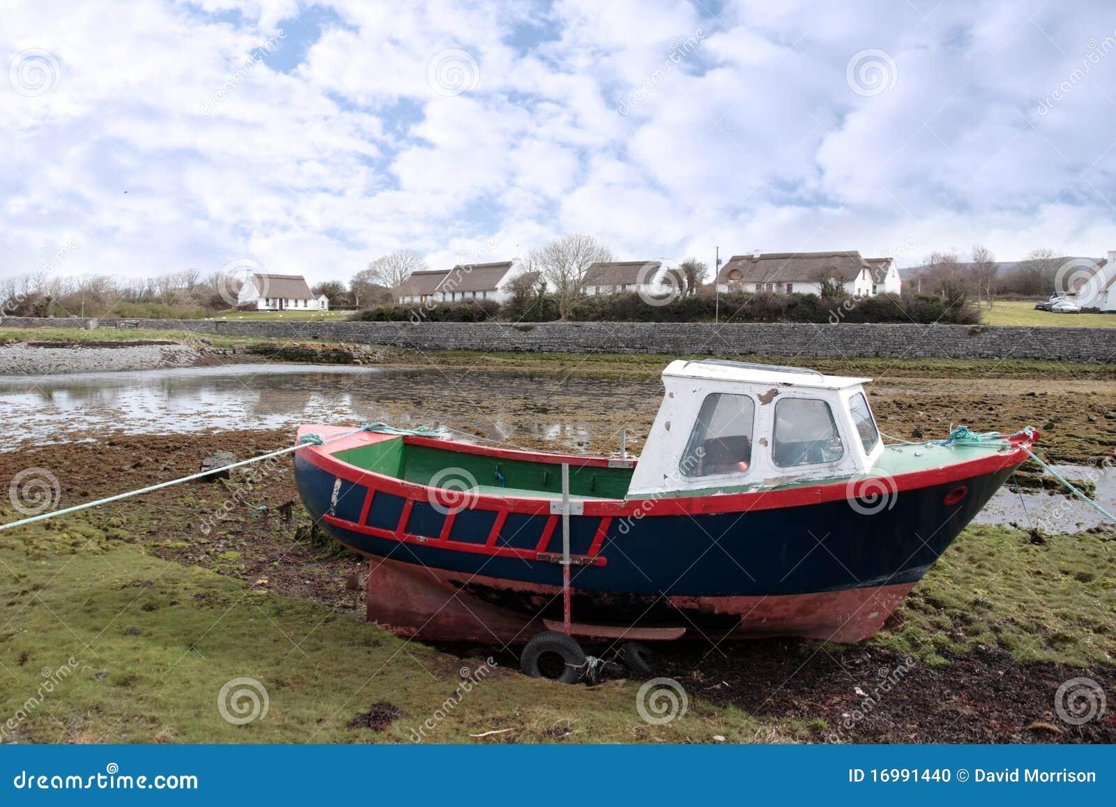 Old Fishing Boat Moored Stock Photo - Image: 16991440