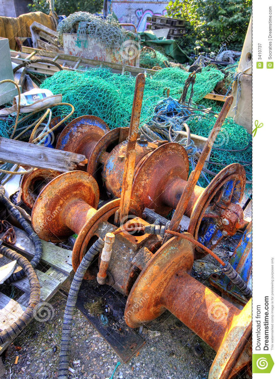 Old fishing gear royalty free stock photography image for Free fishing stuff