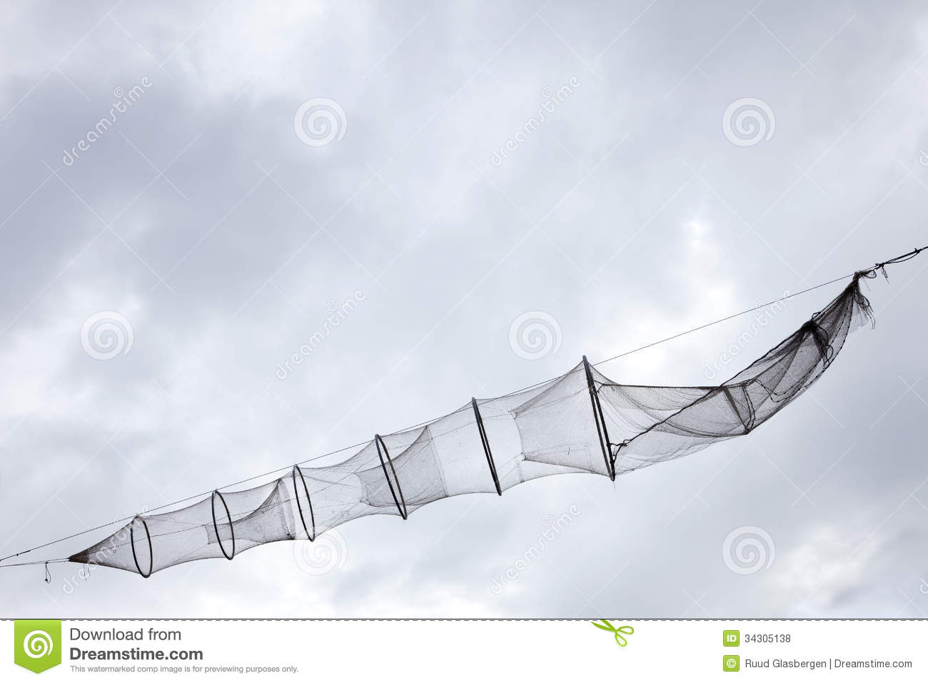 Old fishing net fish trap stock photo image 34305138 for Fish trap net