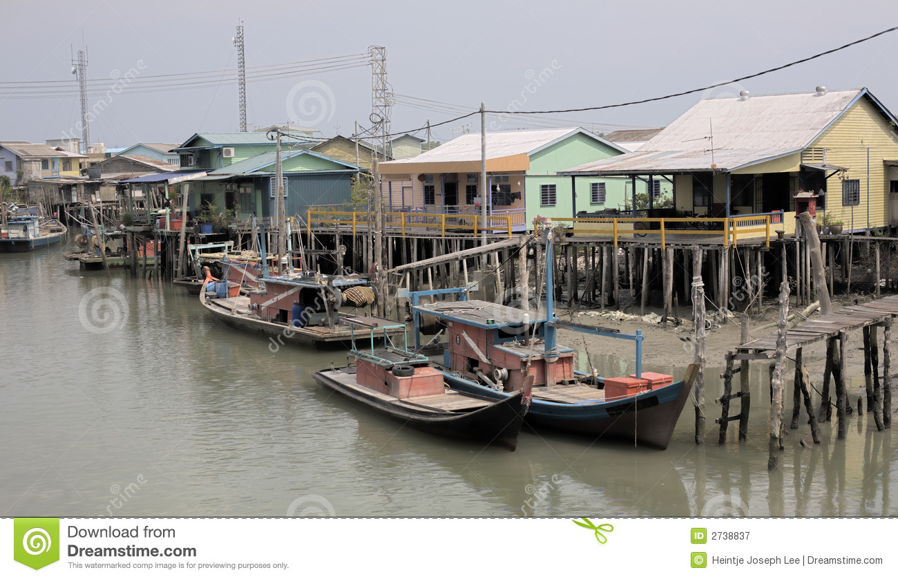 Old Fishing Village Royalty Free Stock Photography - Image ...