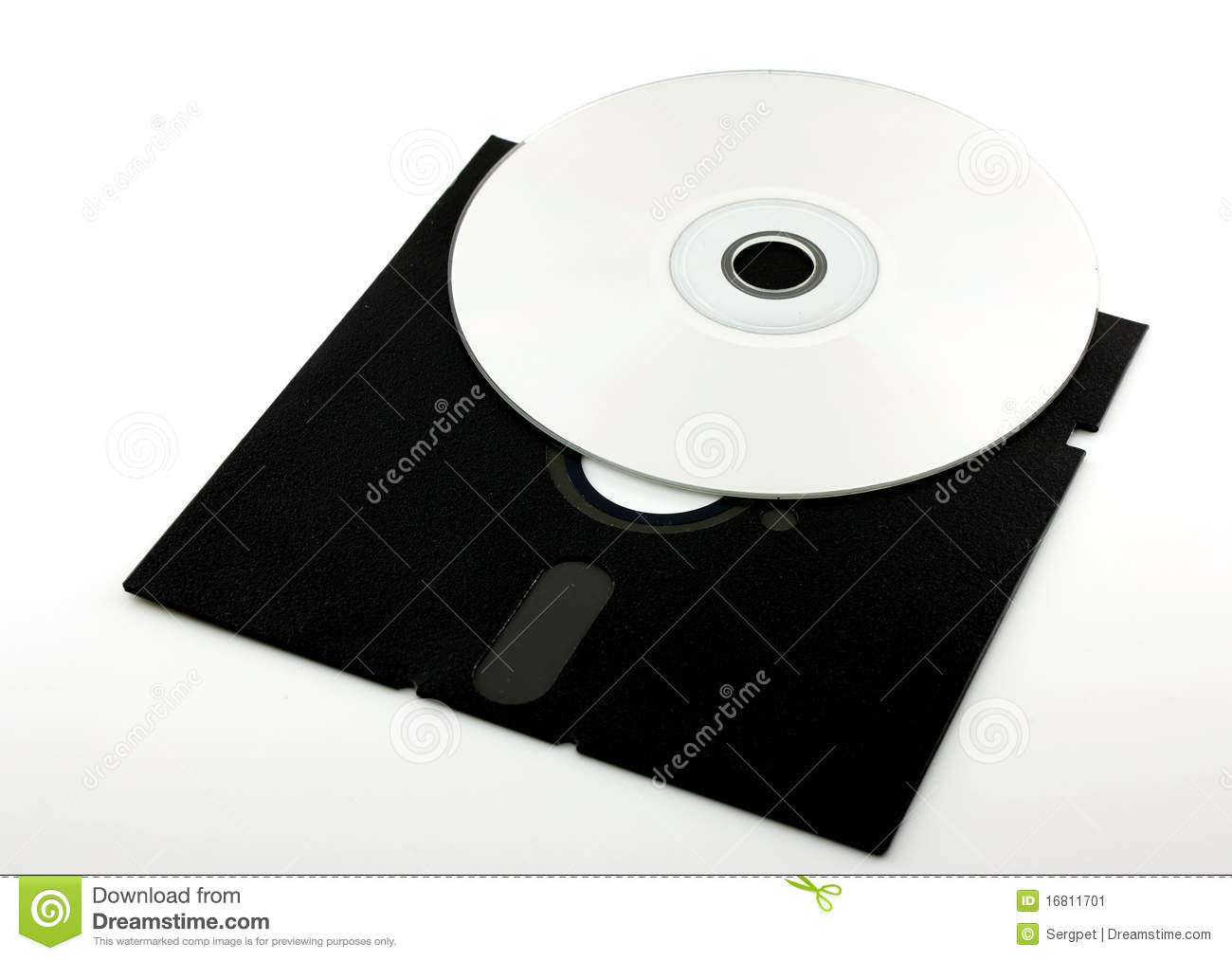 Old floppy disk and cd rom stock image image 16811701 - Uses for old floppy disks ...