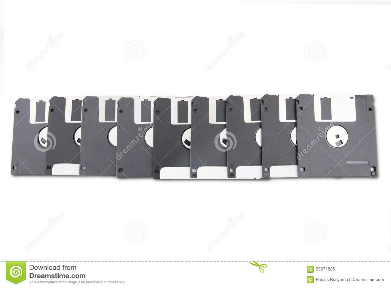 Old floppy disks stock photo image 69671885 - Uses for old floppy disks ...