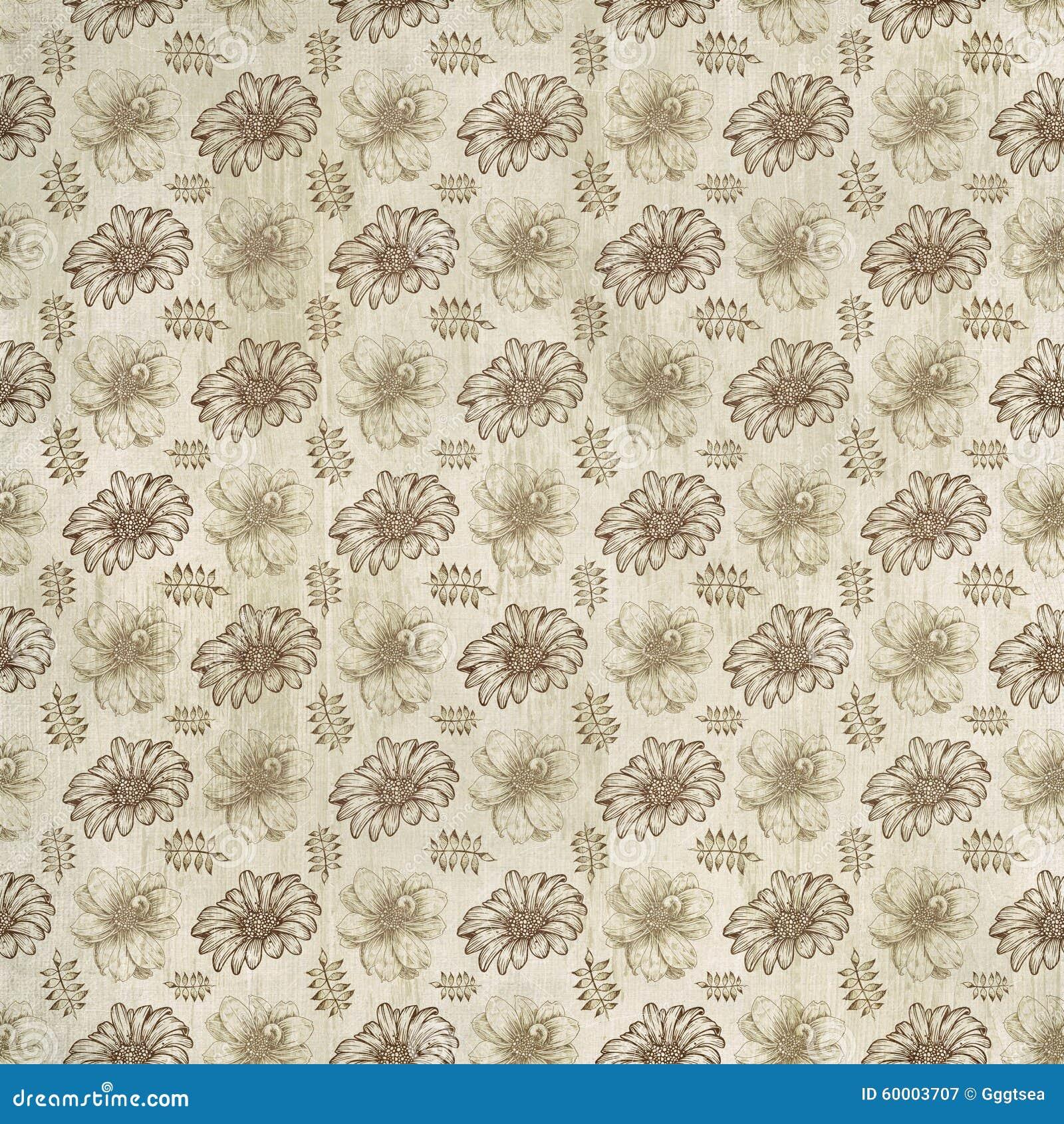 Old Floral Paper Wallpaper Stock Illustration Illustration Of