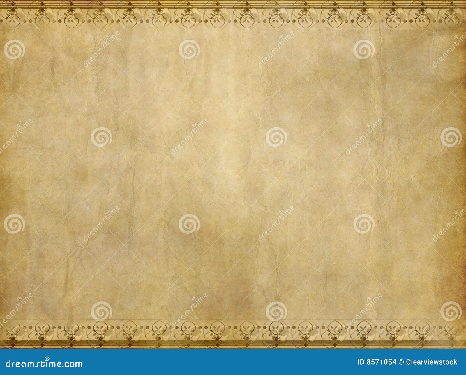 Old floral parchment paper texture