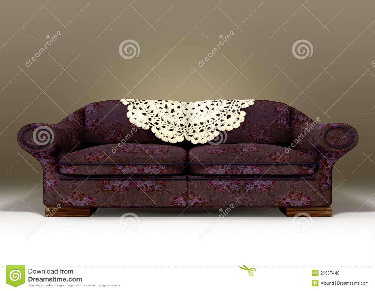 Old floral sofa stock illustration image of couch for 80s floral couch