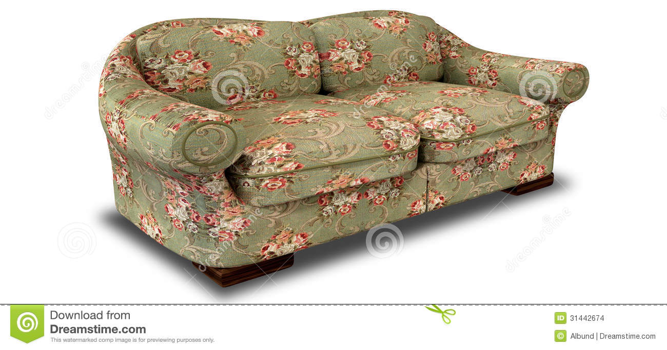 Old Floral Sofa Perspective Stock Images Image 31442674