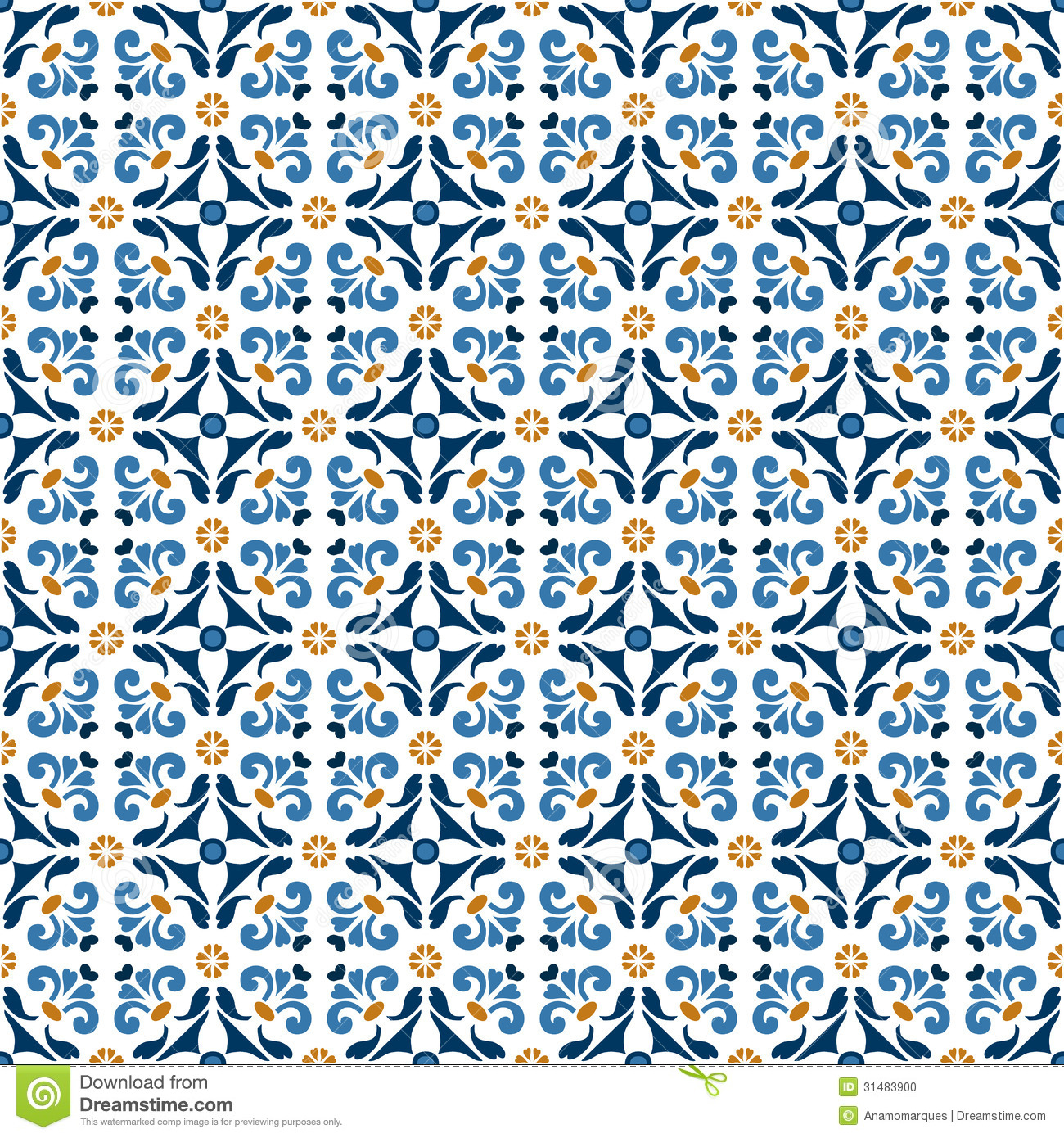 Old Floral Tiles Stock Vector Image Of Cover