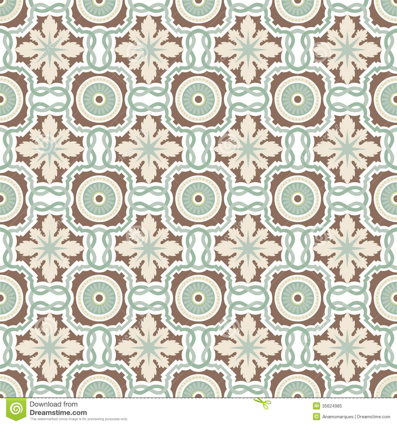 Old Floral Tiles Royalty Free Stock Photo Image 35624985