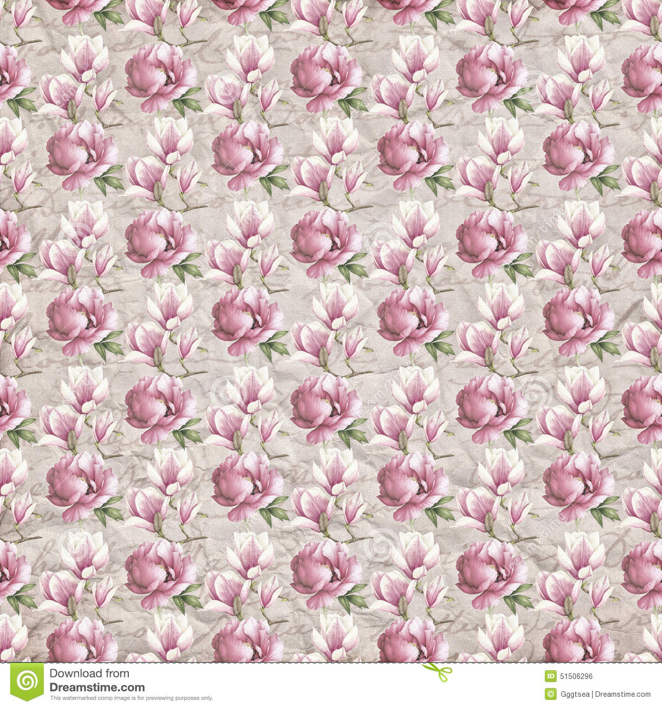 Old Flower Paper Wallpaper Stock Photo Image Of Stylized 51506296