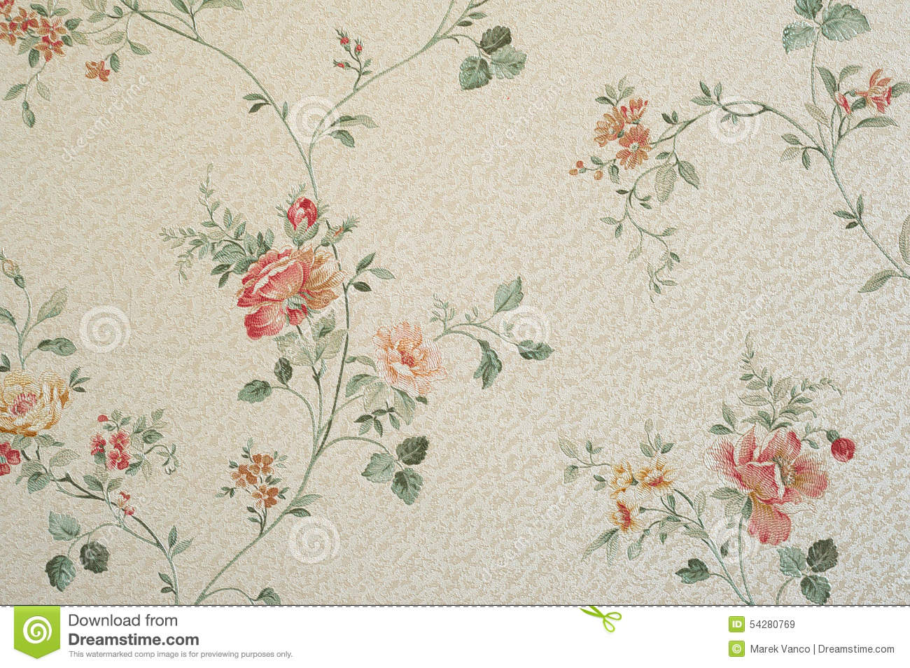 old flowers wallpaper stock photo image 54280769