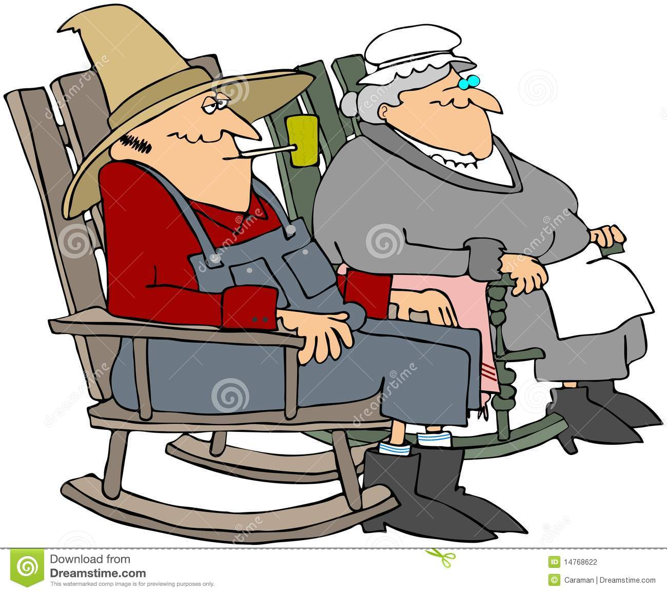 Old Folks In Rocking Chairs Stock Photography - Image: 14768622