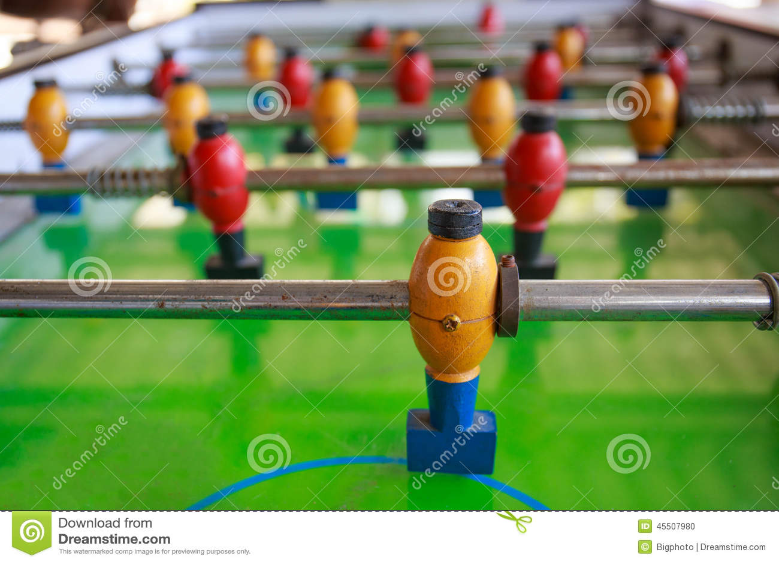 Old football table, soccer table