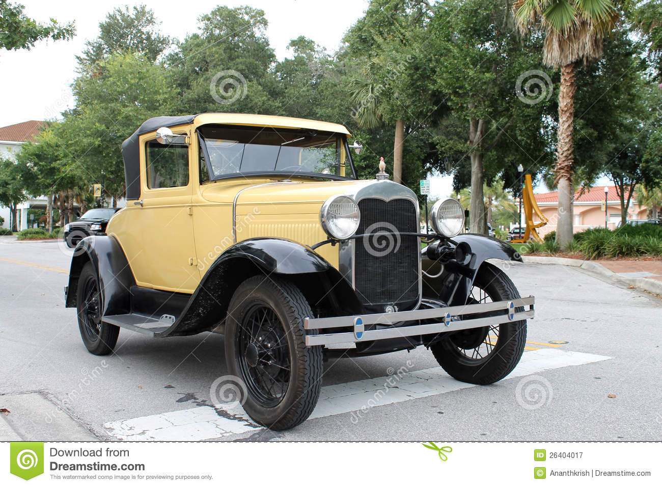 The old ford car