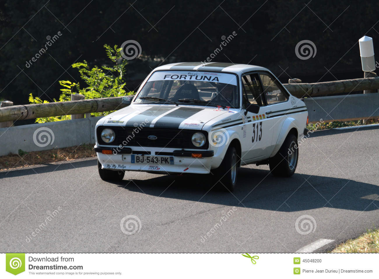 Old Ford Escort Rally Car editorial image. Image of helmet - 45048200