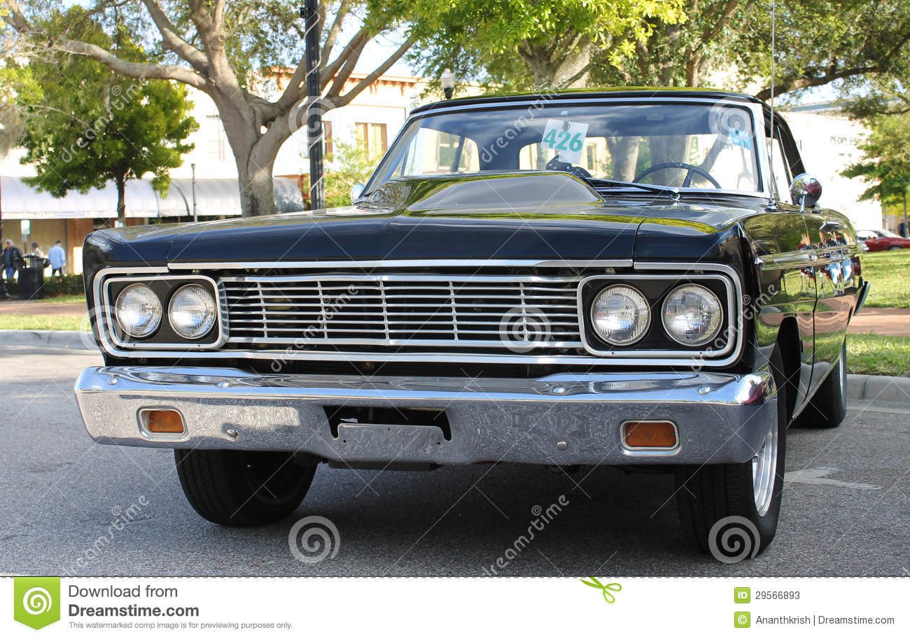 Old Ford Fairlane Car Stock Image Of Company Road 29566893 1950s Bumper