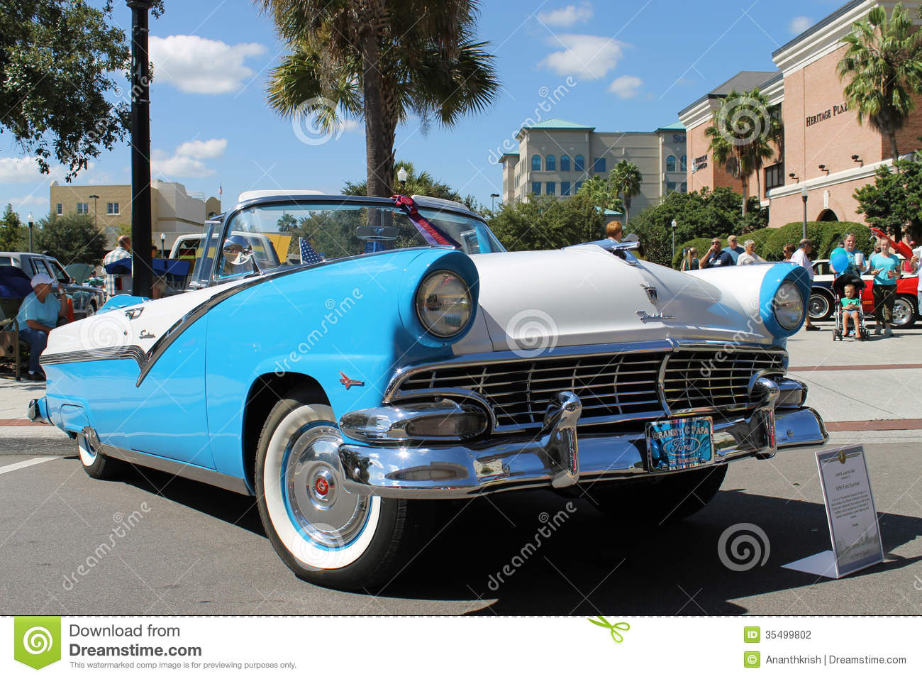 Old Ford Fairlane Car At The Car Show Editorial Photography Image - Old car shows