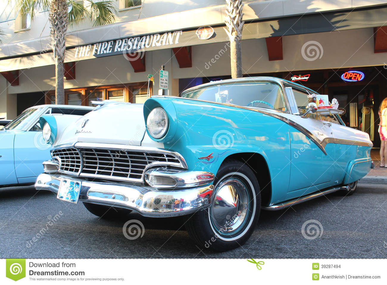 the old ford fairlane car at the car show editorial stock image image 39287494. Black Bedroom Furniture Sets. Home Design Ideas
