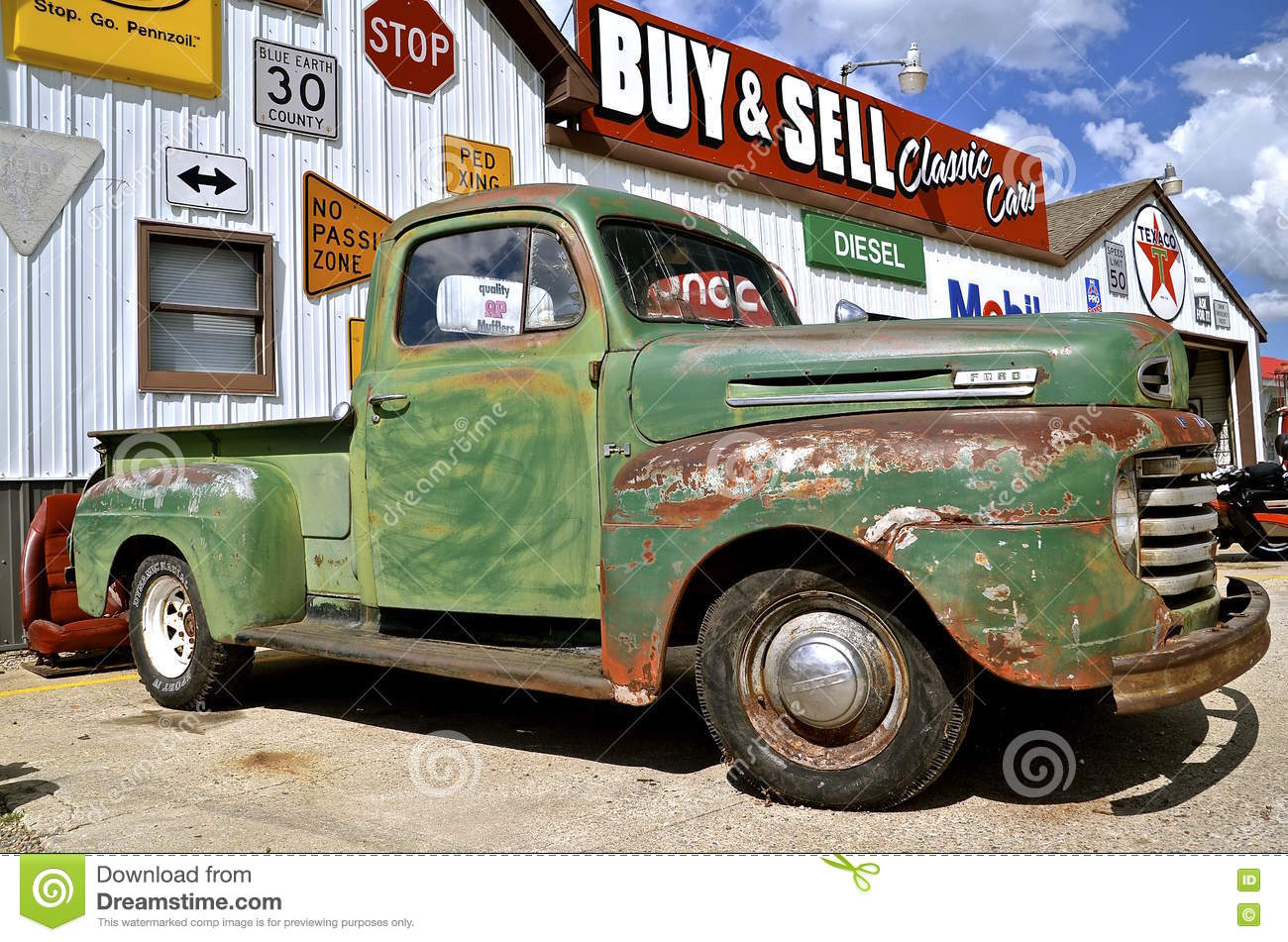 Old Ford pickup at a sale editorial stock photo. Image of blade ...