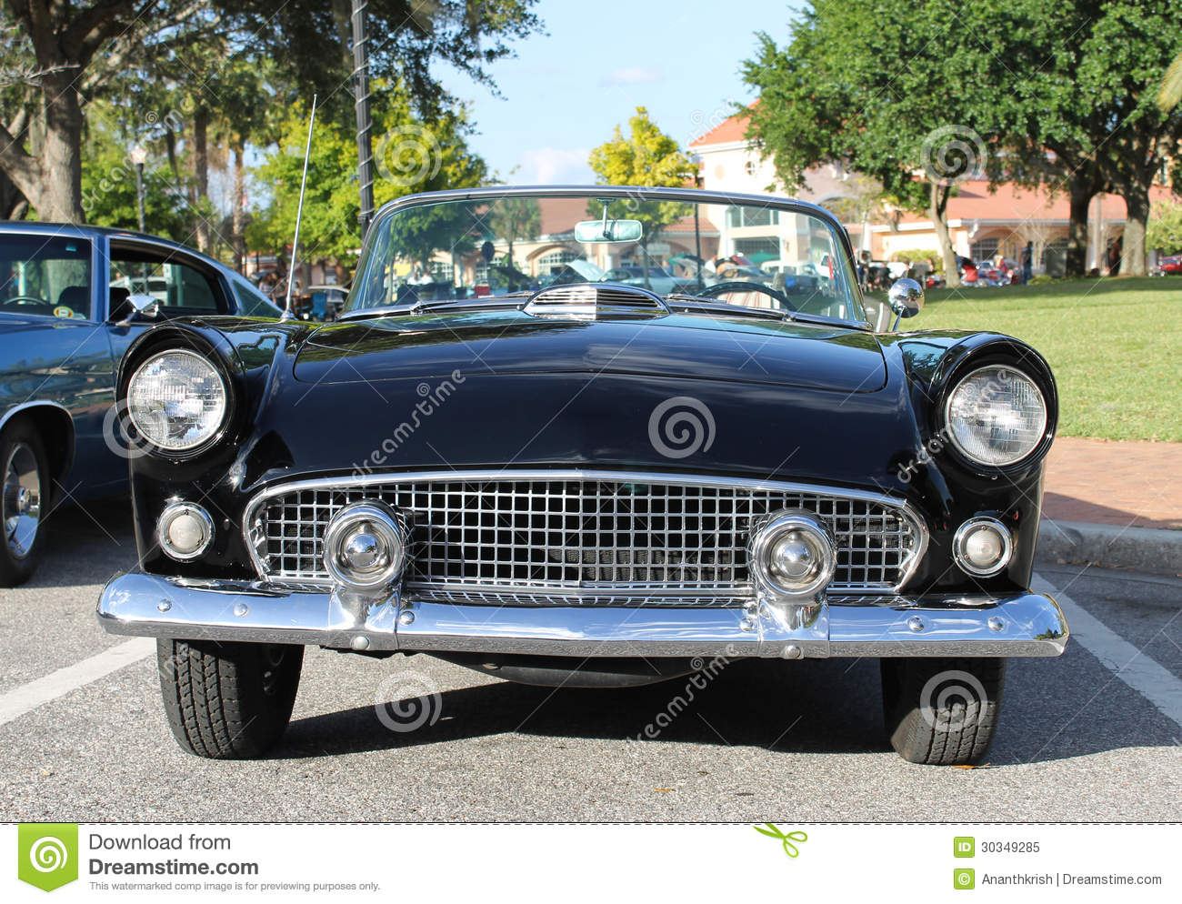 old ford thunderbird car royalty free stock photo image 30349285. Black Bedroom Furniture Sets. Home Design Ideas