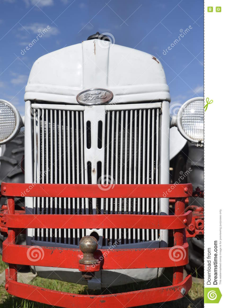 Tractor Grill Protector : Old ford tractor with grill guards editorial photography