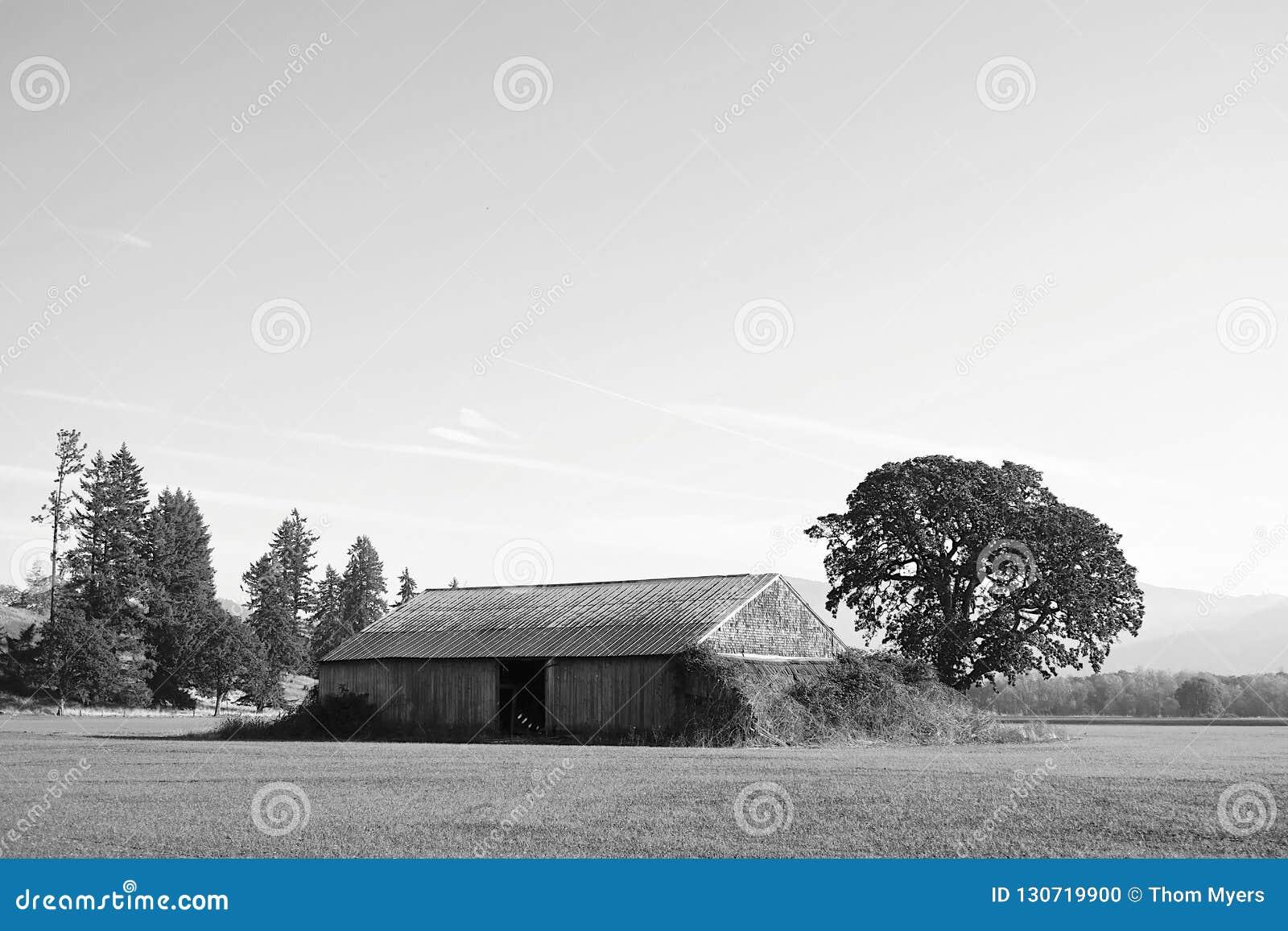 Oregon barn building stock photo. Image of barn ...