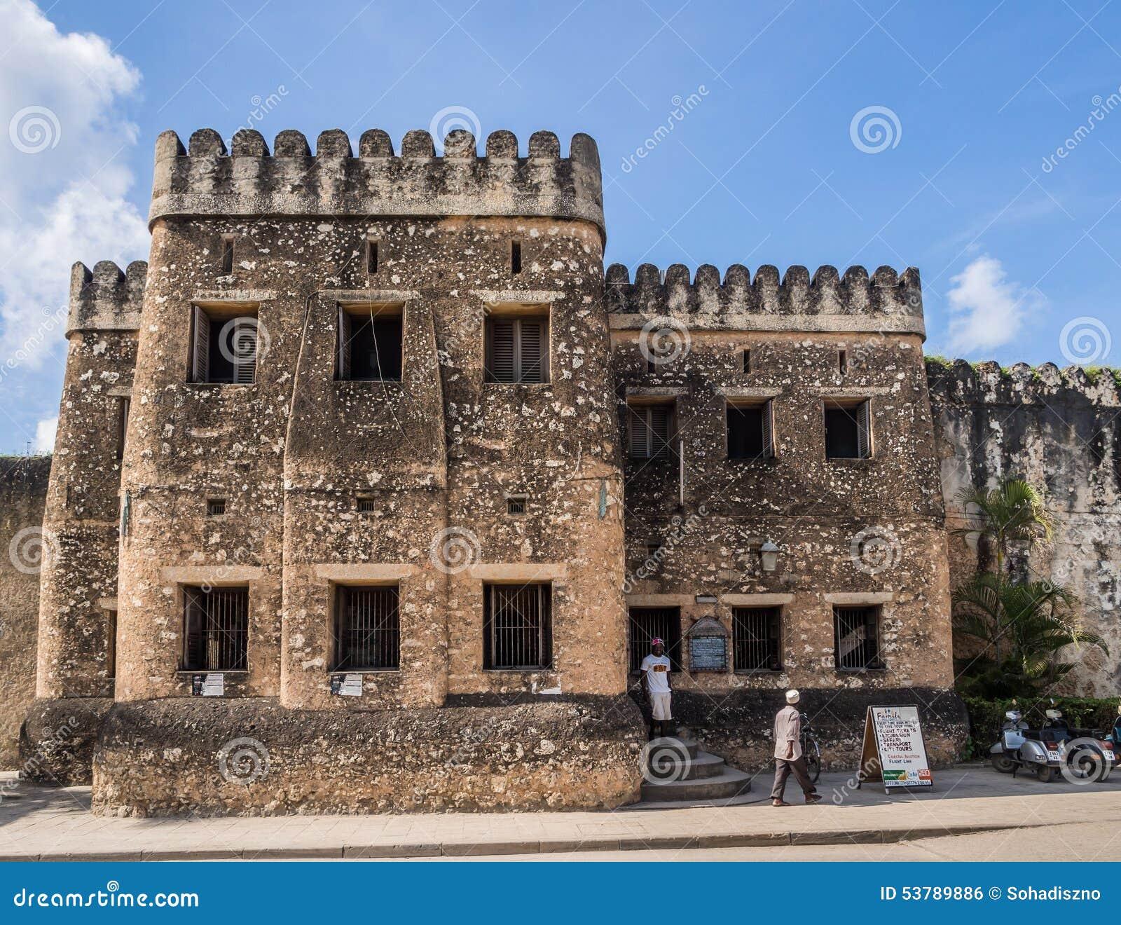 Old Fort Ngome Kongwe In Stone Town Zanzibar Editorial