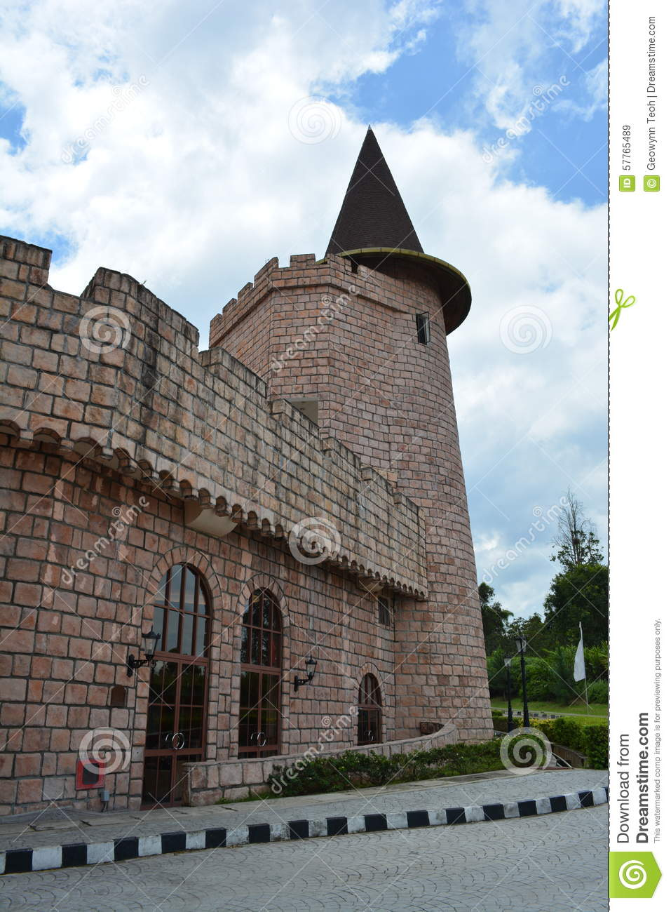 Old fort tower stock photo image 57765489 - The house in the old franciscan tower ...