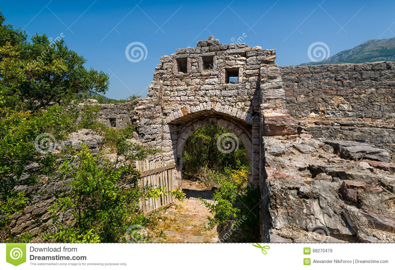 Old fortress ruins, main gate photo