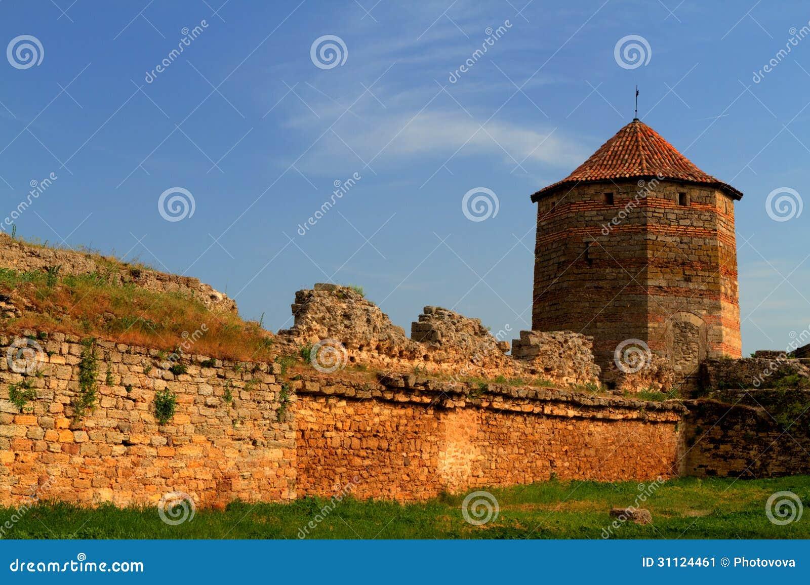 Old Fortress In Town Bilhorod-Dnistrovski Odessa Region ...
