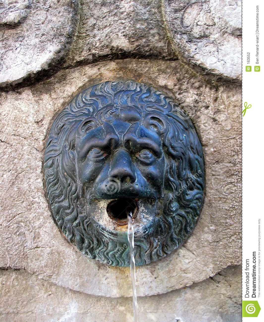 Old fountain detail. Tuscany.
