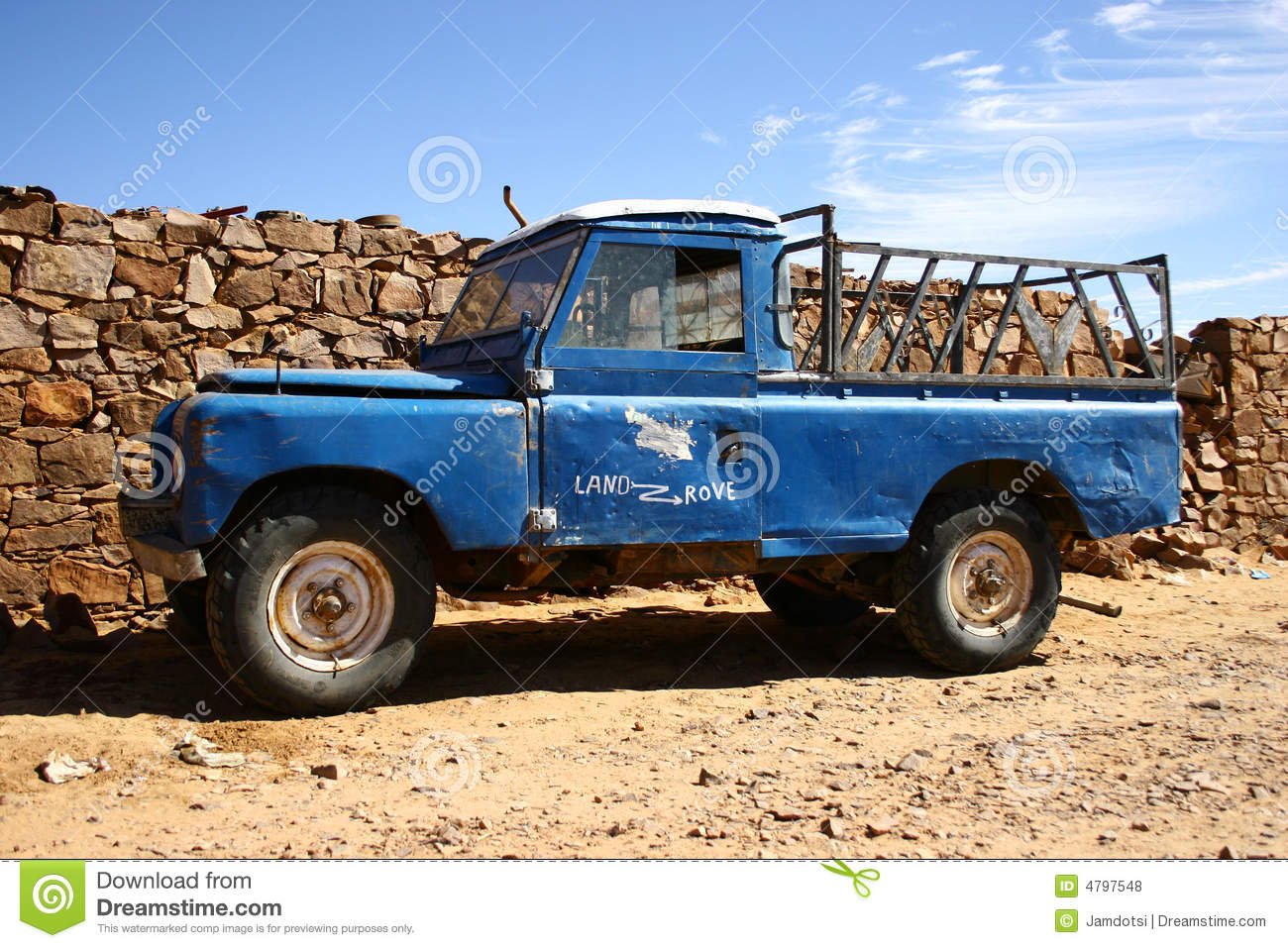 old four wheel drive pick up truck stock photo image 4797548. Black Bedroom Furniture Sets. Home Design Ideas