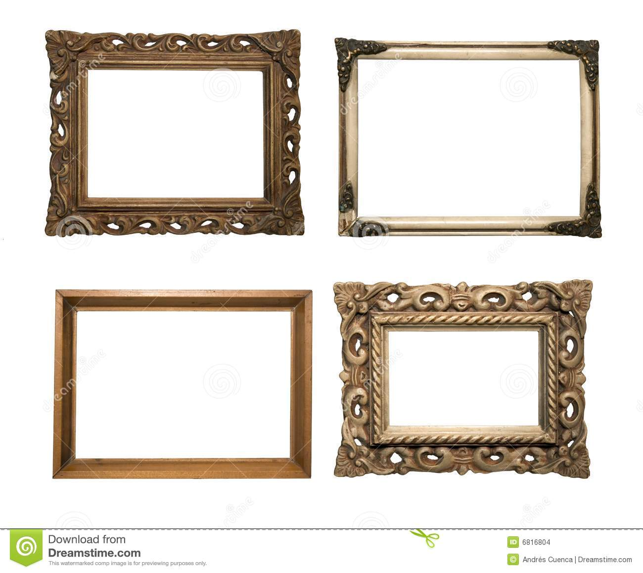 Old frames serie stock photo image of wall white for What to do with old frames
