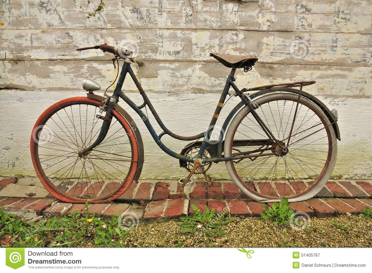 Old French Bicycle Stock Photo Image 51405767