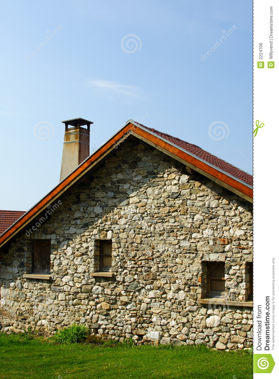Old french house portrait royalty free stock image image for Classic house french kiss