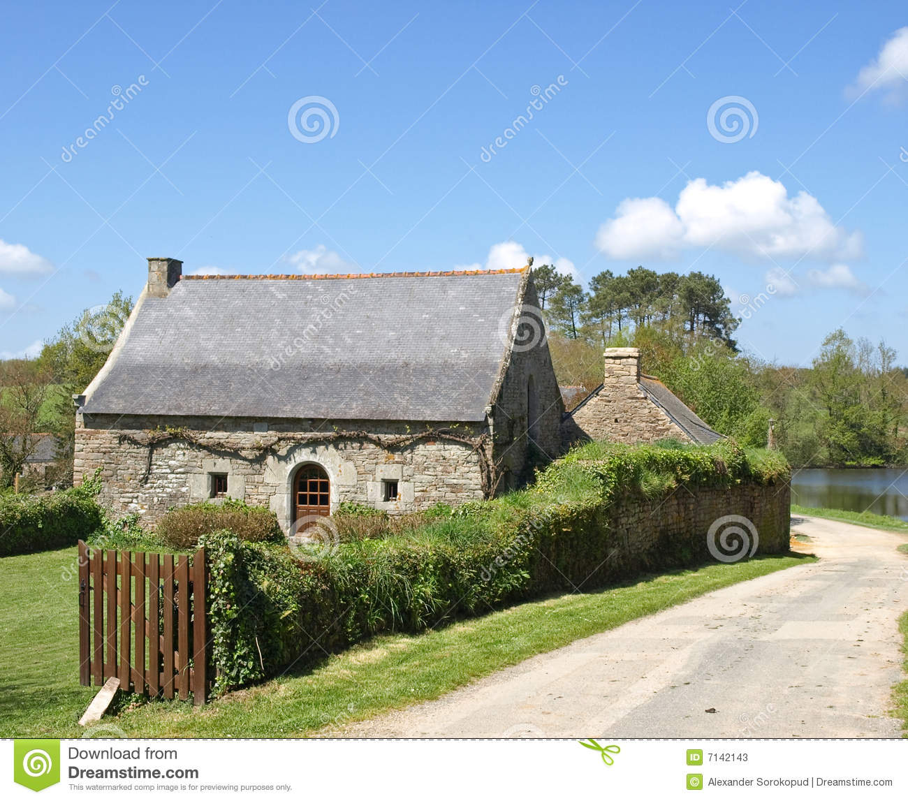 Old French Village House Stock Photos Image 7142143