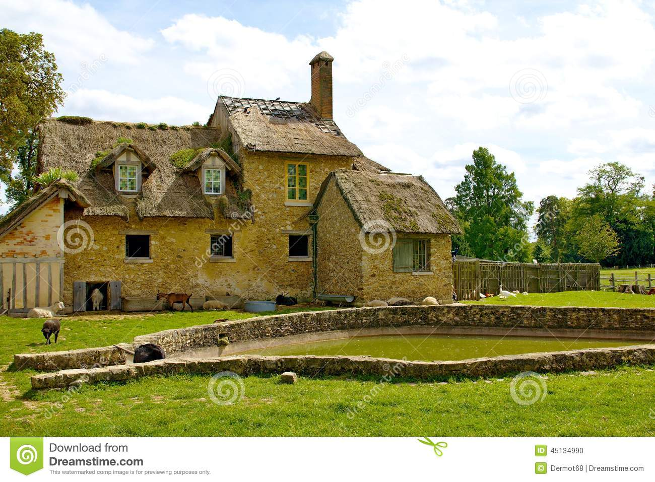Old French village stock photo. Image of closeup, plant - 45134990