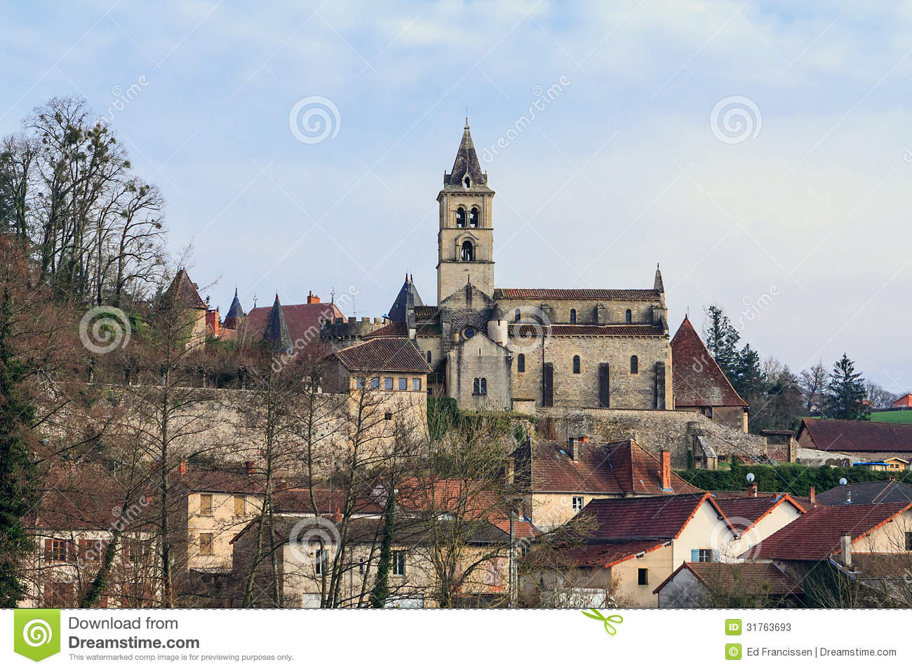 Old French Village Stock Photos Image 31763693