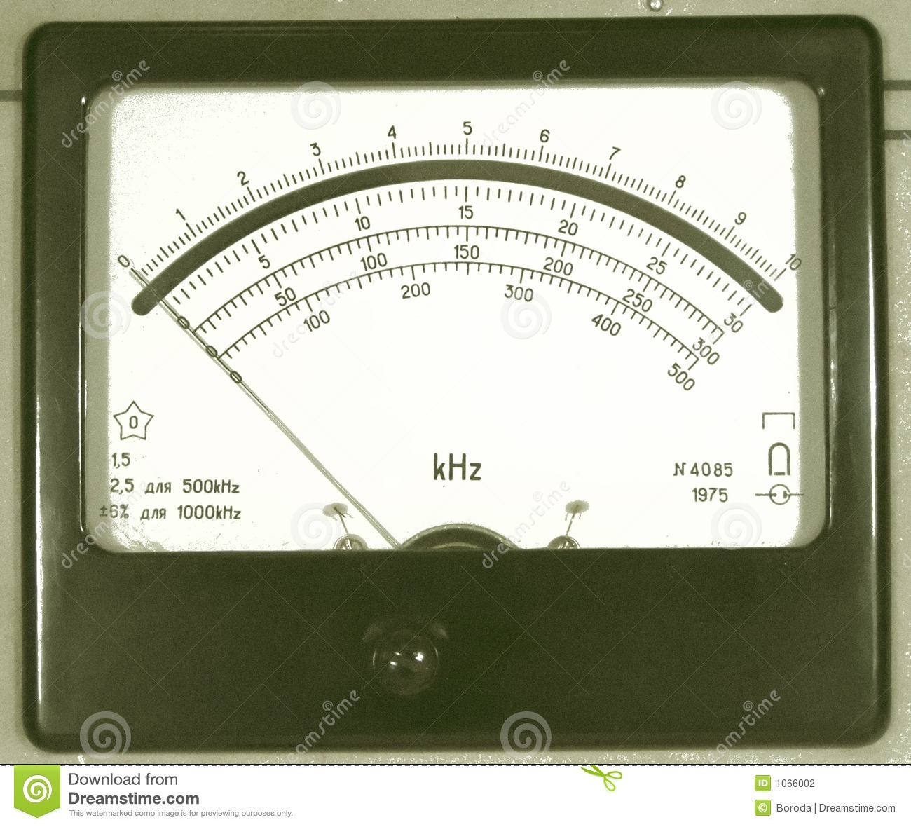 Sound Frequency Meter : Old frequency meter stock photography image