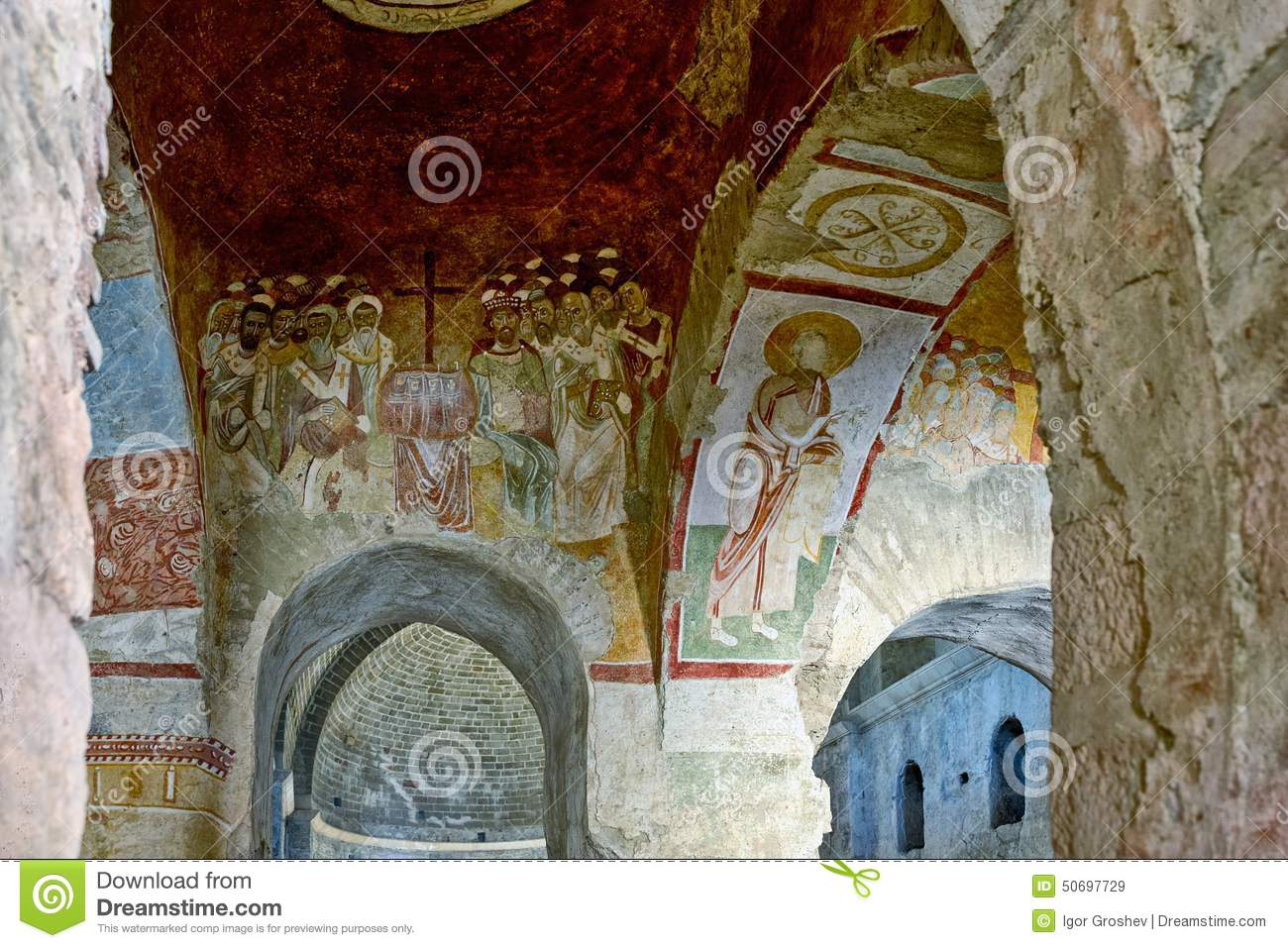 An Old Fresco On The Wall Of St Nicholas Church, Demre ...