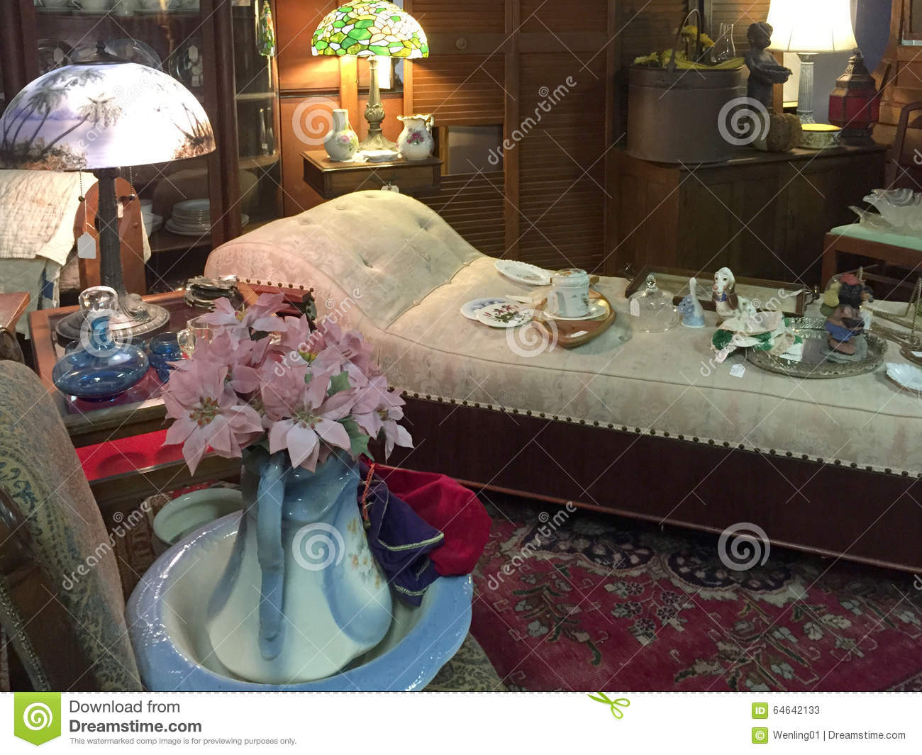 Old Furniture And Furnishing Selling At Store Editorial