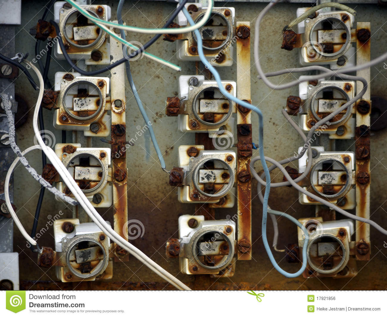 Download Old fuse box stock photo. Image of lock, thing, electricity -  17921856