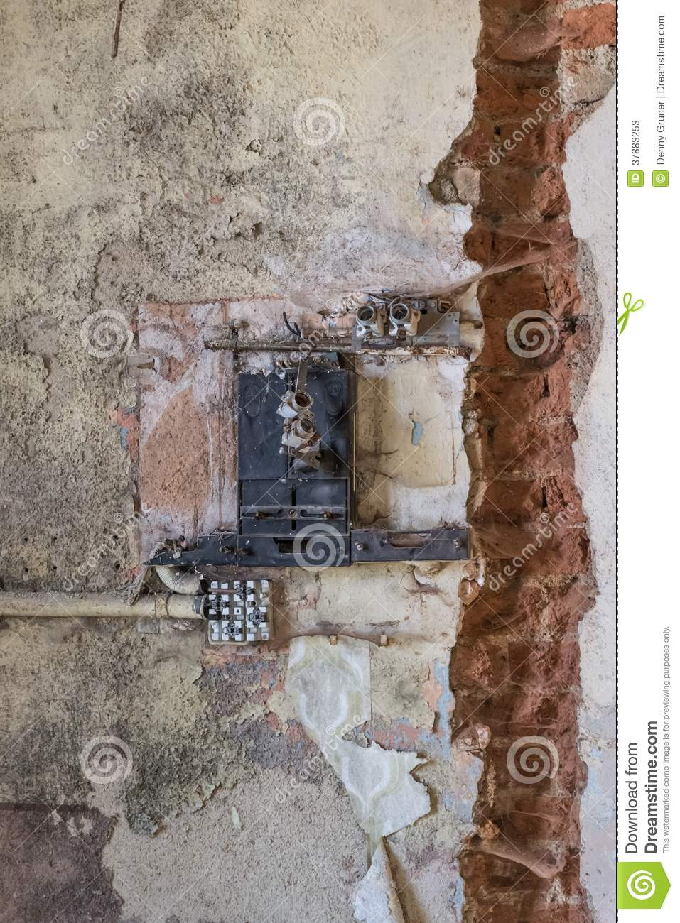 [QNCB_7524]  Old fuse box stock image. Image of construction, supply - 37883253 | Destroyed Fuse Box |  | Dreamstime.com