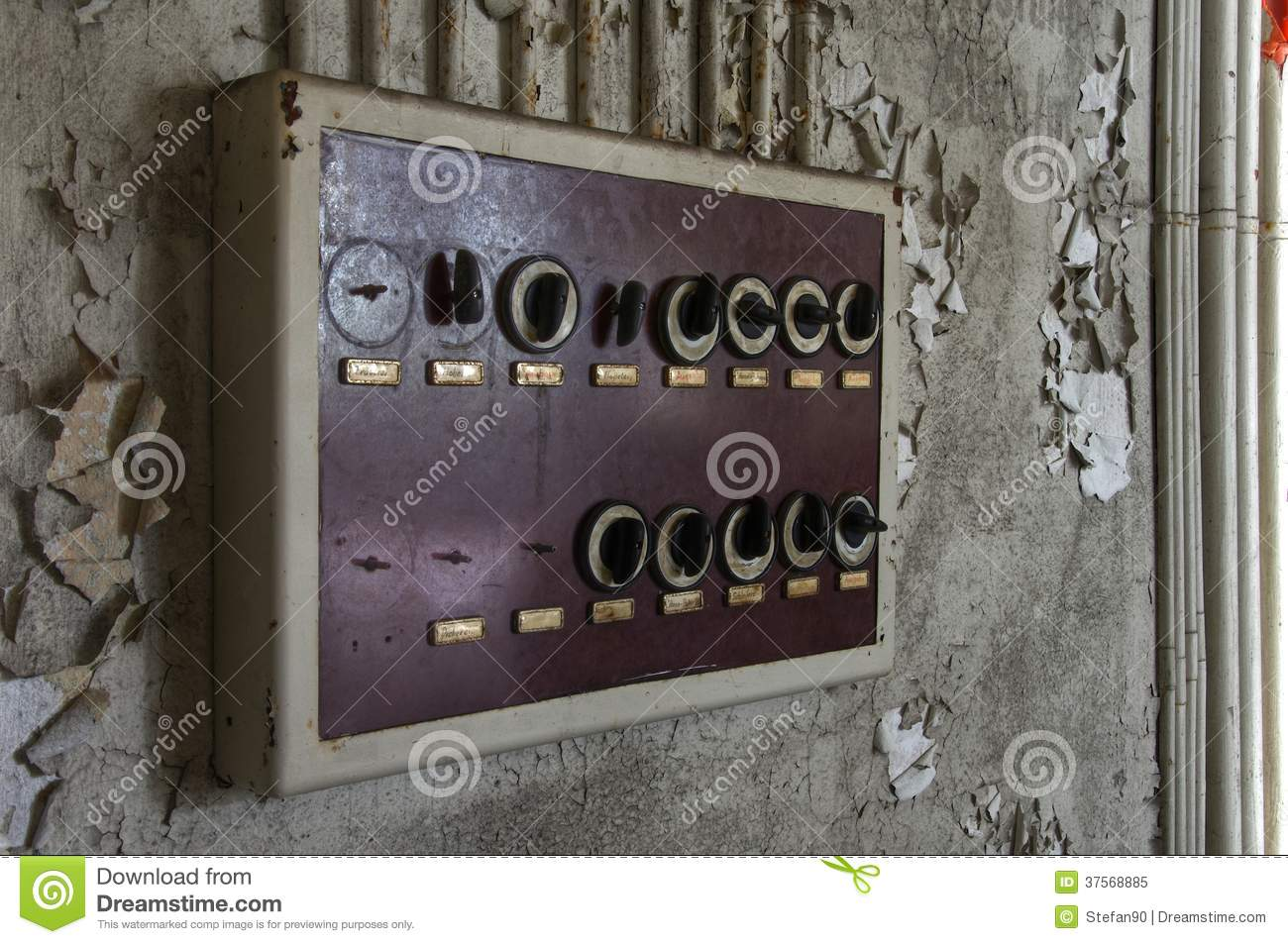 old fuse box in an abandoned hall stock image image of destroyed rh dreamstime com