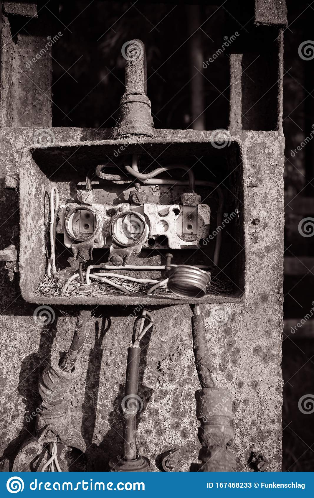 old fuse box in black and white stock image - image of grunge, safety:  167468233  dreamstime.com