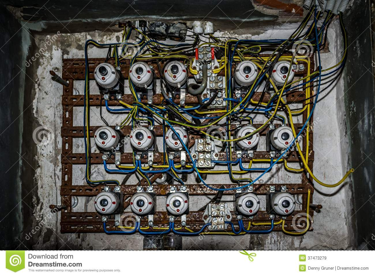 Old Fuse Box Stock Image Image Of Lock Physics Supply