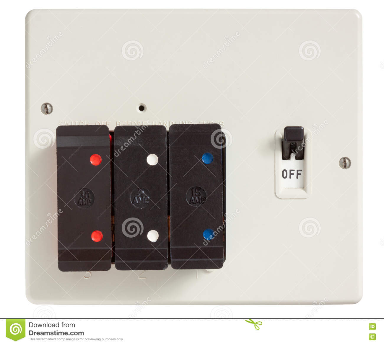 Download Old Fuse Box stock image. Image of home, electricity - 73976169